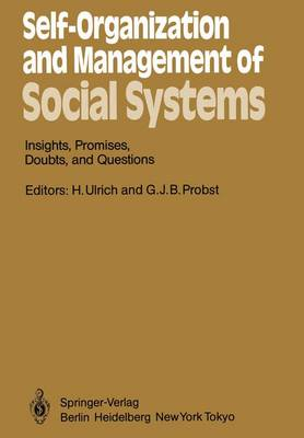 Self-Organization and Management of Social Systems: Insights, Promises, Doubts, and Questions - Springer Series in Synergetics 26 (Paperback)
