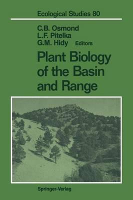 Plant Biology of the Basin and Range - Ecological Studies 80 (Paperback)