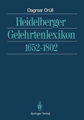 Heidelberger Gelehrtenlexikon (Paperback)