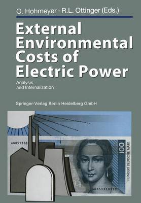 External Environmental Costs of Electric Power: Analysis and Internalization (Paperback)