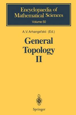 General Topology II: Compactness, Homologies of General Spaces - Encyclopaedia of Mathematical Sciences 50 (Paperback)