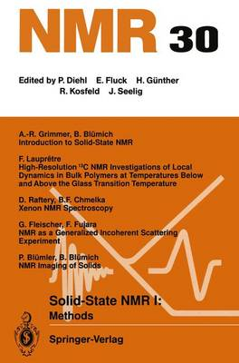 Solid-State NMR I Methods: Methods - NMR Basic Principles and Progress 30 (Paperback)