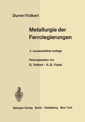 Metallurgie der Ferrolegierungen (Paperback)