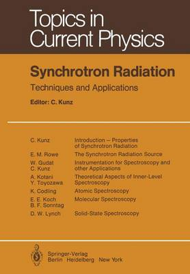 Synchrotron Radiation: Techniques and Applications - Topics in Current Physics 10 (Paperback)