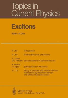 Excitons - Topics in Current Physics 14 (Paperback)