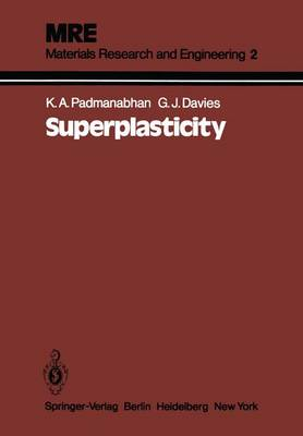 Superplasticity: Mechanical and Structural Aspects, Environmental Effects, Fundamentals and Applications - Materials Research and Engineering (Paperback)