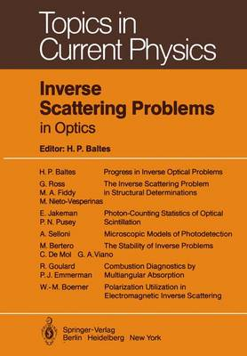 Inverse Scattering Problems in Optics - Topics in Current Physics 20 (Paperback)