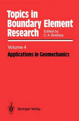 Applications in Geomechanics - Topics in Boundary Element Research 4 (Paperback)