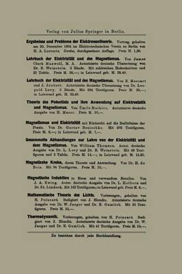 Die Neueren Wandlungen Der Elektrischen Theorien: Einschlie�lich Der Elektronentheorie (Paperback)
