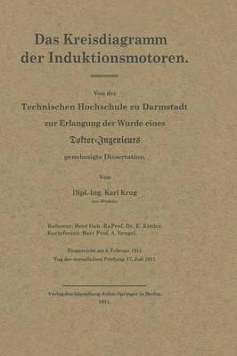 Das Kreisdiagramm Der Induktionsmotoren (Paperback)