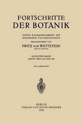 Fortschritte Der Botanik: Neunter Band (Paperback)