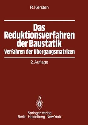 Das Reduktionsverfahren der Baustatik (Paperback)