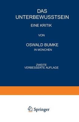 Das Unterbewusstsein: Eine Kritik (Paperback)