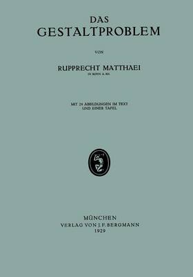 Das Gestaltproblem (Paperback)