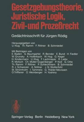 Gesetzgebungstheorie, Juristische Logik, Zivil- und Prozessrecht (Paperback)