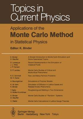 Applications of the Monte Carlo Method in Statistical Physics - Topics in Current Physics 36 (Paperback)