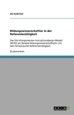 Bildungswissenschaftler in Der Referententatigkeit (Paperback)