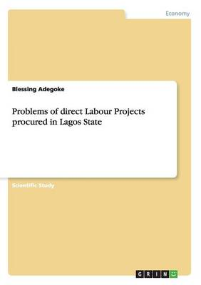 Problems of Direct Labour Projects Procured in Lagos State (Paperback)