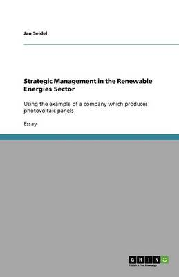 Strategic Management in the Renewable Energies Sector (Paperback)