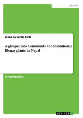 A Glimpse Into Community and Institutional Biogas Plants in Nepal (Paperback)