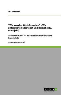 Wir Werden Obst-Experten - Wir Untersuchen Steinobst Und Kernobst (2. Schuljahr) (Paperback)