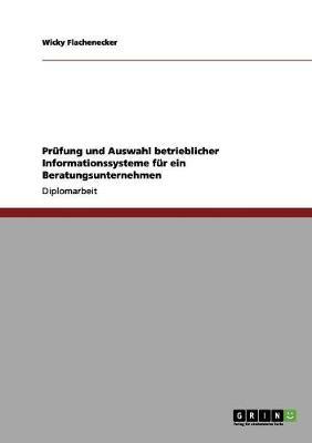 Prufung Und Auswahl Betrieblicher Informationssysteme Fur Ein Beratungsunternehmen (Paperback)