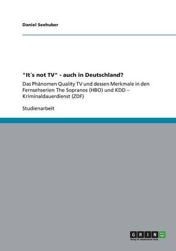 """""""Its Not TV"""" - Auch in Deutschland? (Paperback)"""