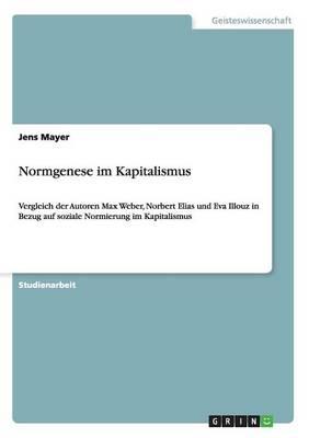 Normgenese Im Kapitalismus (Paperback)