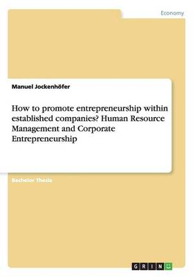 How to Promote Entrepreneurship Within Established Companies? Human Resource Management and Corporate Entrepreneurship (Paperback)