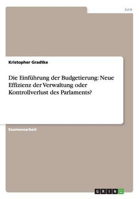 Die Einf hrung Der Budgetierung: Neue Effizienz Der Verwaltung Oder Kontrollverlust Des Parlaments? (Paperback)