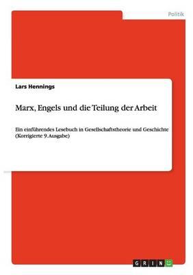 Marx, Engels Und Die Teilung Der Arbeit (Paperback)