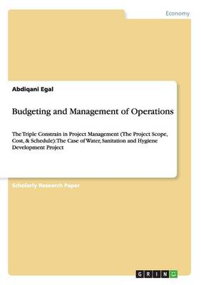 Budgeting and Management of Operations (Paperback)