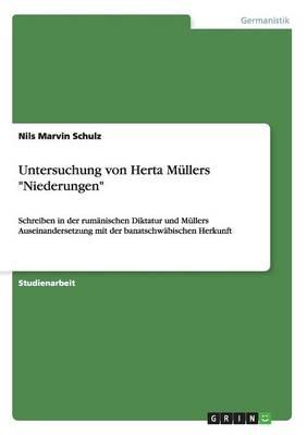 Untersuchung Von Herta M llers Niederungen (Paperback)