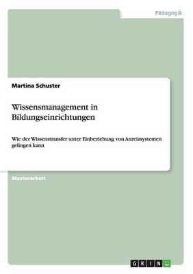 Wissensmanagement in Bildungseinrichtungen (Paperback)