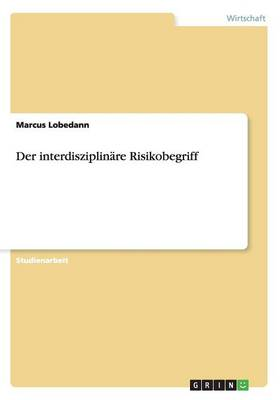 Der Interdisziplinre Risikobegriff (Paperback)