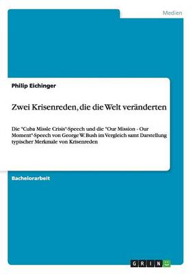 Zwei Krisenreden, Die Die Welt Veranderten (Paperback)