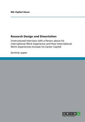 Research Design and Dissertation (Paperback)