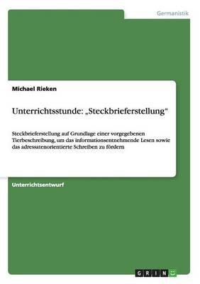 """Unterrichtsstunde: """"steckbrieferstellung (Paperback)"""