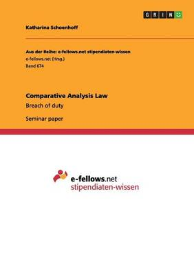 Comparative Analysis Law (Paperback)