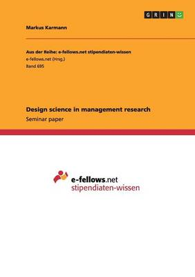 Design Science in Management Research (Paperback)