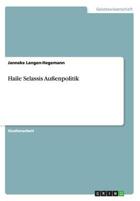 Haile Selassis Au enpolitik (Paperback)