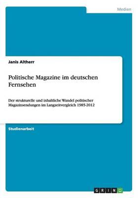 Politische Magazine Im Deutschen Fernsehen (Paperback)