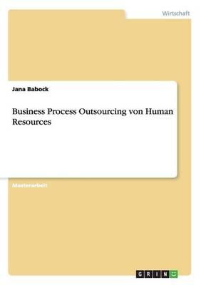 Business Process Outsourcing Von Human Resources (Paperback)