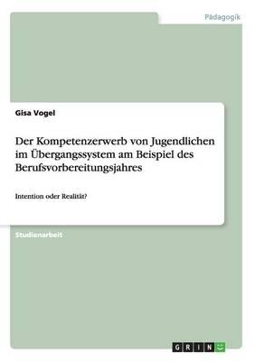 Der Kompetenzerwerb Von Jugendlichen Im bergangssystem Am Beispiel Des Berufsvorbereitungsjahres (Paperback)