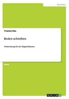Reden Schreiben (Paperback)