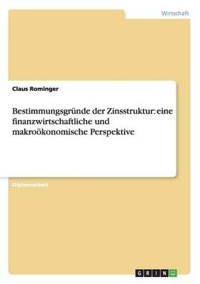 Bestimmungsgr nde Der Zinsstruktur: Eine Finanzwirtschaftliche Und Makro konomische Perspektive (Paperback)