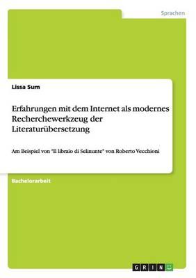 Erfahrungen Mit Dem Internet ALS Modernes Recherchewerkzeug Der Literatur bersetzung (Paperback)