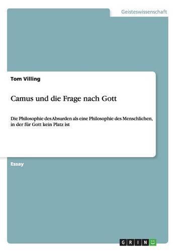 Camus Und Die Frage Nach Gott (Paperback)