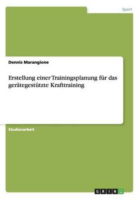 Erstellung Einer Trainingsplanung Fur Das Gerategestutzte Krafttraining (Paperback)