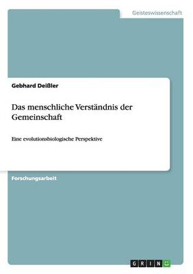 Das Menschliche Verst�ndnis Der Gemeinschaft (Paperback)